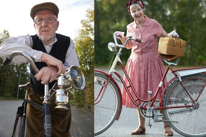 Britt-Marie och Lars-Erik Jonsson älskar att cykla.